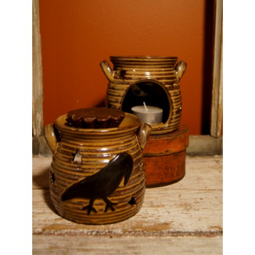 Ceramic Black Crow Tart Warmer